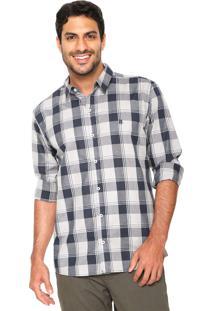 Camisa Polo Wear Reta Xadrez Cinza/Azul