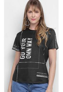 Camiseta Morena Rosa Go Your Own Way Feminina - Feminino-Preto