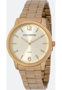 Relógio Feminino Mondaine 53583Lpmgde2K Analógico 3Atm + Conjunto Semijóia