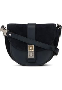 Proenza Schouler Bolsa Transversal Ps11 Pequena De Camurça - Azul