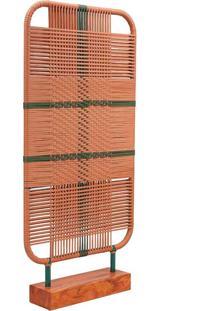 Biombo Terraço Fibra Sintética Com Corda Náutica Estrutura Alumínio E Peroba Rosa Demolição Eco Friendly Design Scaburi