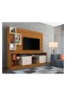 Estante Para Home Theater E Tv Até 65 Polegadas Heitor Naturale E Off White