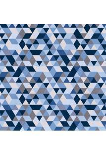 Papel De Parede Triângulos Azul (1000X52)