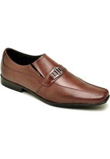 Sapato Social Em Couro D&R Shoes Masculino - Masculino-Caramelo