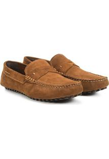 Mocassim Couro Walkabout Harry Nobuck Masculino - Masculino-Caramelo