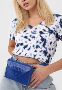 Pochete Colcci Envelope Azul