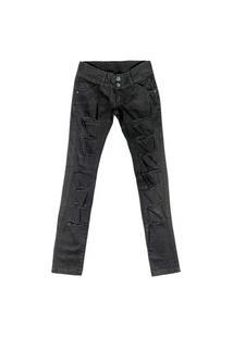 Calça Look Jeans Sarja Preta
