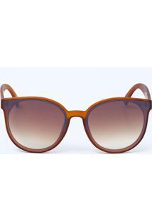 9d60704b7b40d Óculos De Sol Bege Grande feminino