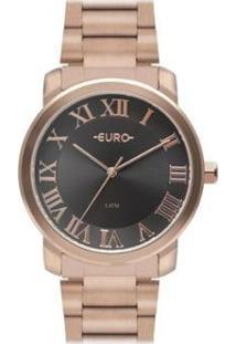 Relógio Euro Delicado Casual Moderno Dia A Dia Feminino - Feminino-Rosa Claro