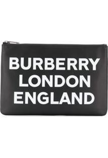 Burberry Logo Print Clutch - Preto