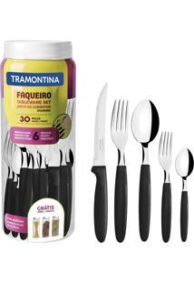 Faqueiro Tramontina 23398088 Ipanema Aço Inox 30 Peças Preto