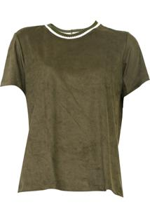 Camiseta Dress To Suede Verde