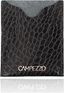 Carteira Slim Campezzo Couro Preto