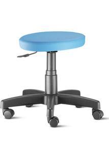 Cadeira Mocho Azul Céu Slim Sem Encosto