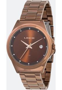 Kit Relógio Feminino Lince Lrb4567L-Ki15N1Nx Analógico 5Atm + Conjunto Semijóia