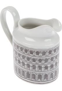 Fornasetti Jarra De Porcelana Estampada - Branco