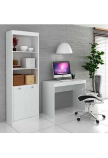 Estante Gadú Com Escrivaninha Vênus I Branco