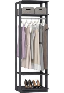 Estante Cabideiro Para Roupas Longas Clothes – Be Mobiliário - Espresso