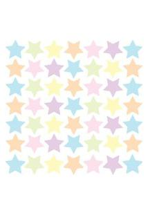 Adesivo De Parede Estrelas Aquarela 54Un Cobre 4M²