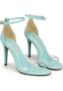 Sandália Napa Dubai Pistache Vinil Sapatinho De Luxo Feminina - Feminino-Verde Claro