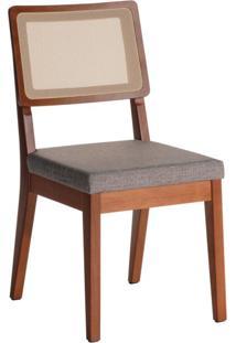 Cadeira Saga Natural E Cinza