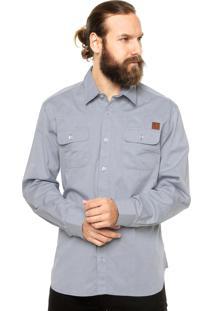 Camisa Manga Longa West Coast Bolsos Cinza