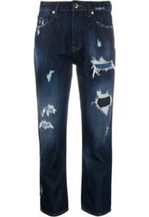Love Moschino Calça Jeans Cropped Cintura Média - Azul