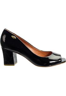 9b2883243 ... Sapato Peep Toe Feminino Luz Da Lua Verniz S32017 - Feminino-Preto