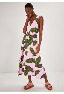 Vestido Midi Estampado Bananeira