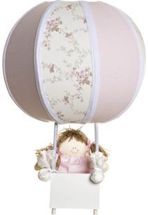 Abajur Balãozinho Quarto Bebê Infantil Menina Potinho De Mel Rosa