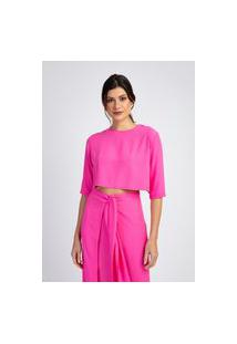 Blusa Cropped Divni Resort Rosa