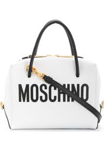 Moschino Mini Logo Tote - Branco