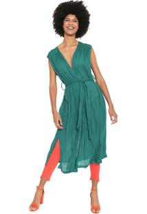 Vestido Cantão Midi Túnica Verde