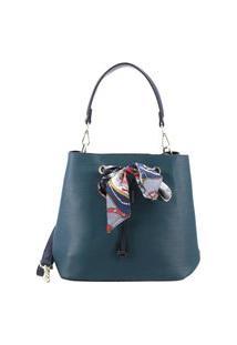 Bauarte - Bucket Bag Com Detalhe De Lenço Bauarte - Bucket Bag Com Detalhe De Lenço Verde
