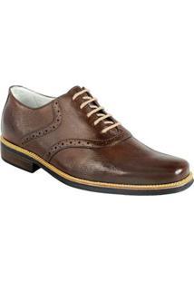 Sapato Social Masculino Oxford Sandro Moscoloni Massachussets Marrom - Masculino-Marrom Escuro
