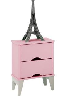 Criado-Mudo Twister 2 Gv Quartzo Rosa E Branco