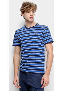 Camiseta Tommy Jeans Bold Stripe Tee Masculina - Masculino-Listrado