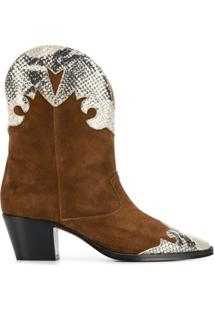 Paris Texas Ankle Boot Western - Marrom