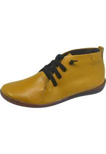 Botinha S2 Shoes Couro Mostarda