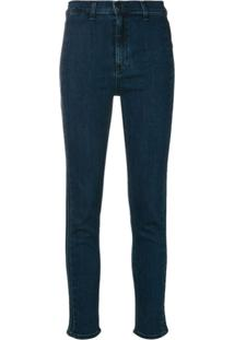 Rag & Bone Calça Jeans Skinny Cropped - Azul