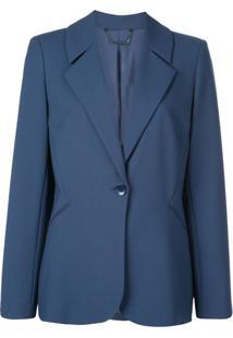 Elie Tahari Blazer Com Abotoamento Simples 'Rein' - Azul