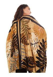 Kimono Lenco Folhagem