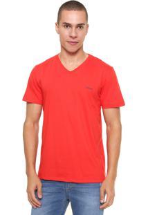 Camiseta Sommer Bordado Vermelha