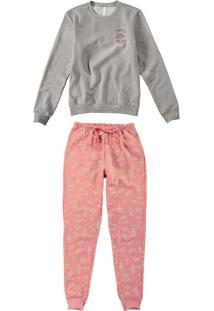 Pijama Longo Estampa Que Brilha Feminino