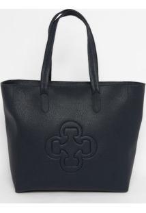 Bolsa Texturizada Com Recortes - Azul Marinho- 33X34Capodarte
