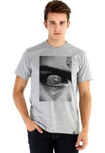 Camiseta Ouroboros Manga Curta Crops Circle - Masculino-Cinza