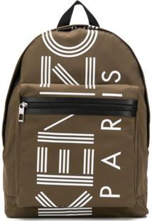Kenzo Logo Back Pack - Verde