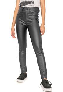 Calça Calvin Klein Jeans Slim Resinada Preta