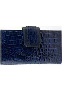 Carteira Topgrife Lisa Feminina - Feminino-Azul Escuro