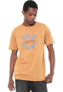 Camiseta Hurley Box Floral Amarela